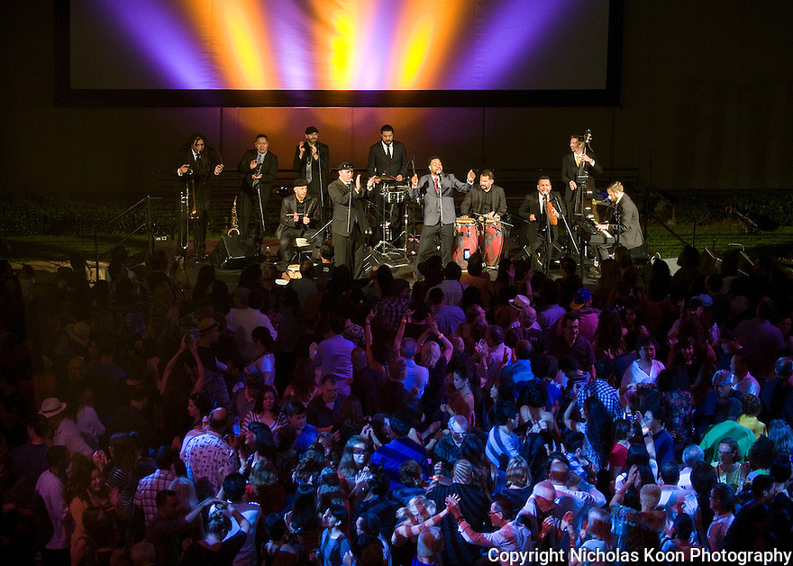 Boogaloo Assassins in the plaza of the Segerstrom Center for the Arts on 9/17/16.