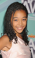 HOLLYWOOD, CA - OCTOBER 26: Amandla Stenberg  arrives at the 3rd Annual TeenNick HALO Awards at Hollywood Palladium on October 26, 2011 in Hollywood, California. /NortePhoto.com<br />