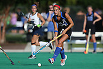 26 September 2014: Duke's Aileen Johnson. The Duke University Blue Devils hosted the University of California Bears at Jack Katz Stadium in Durham, North Carolina in a 2014 NCAA Division I Field Hockey match. Duke won the game 2-0.