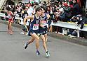 (L to R) Keita Shitara (Toyo-Univ), Hiroyuki Uno (Toyo-Univ), JANUARY 2, 2012 - Athletics : The 88th Hakone Ekiden Race the Tsurumi Relay place in Kanagawa, Japan. (Photo by Atsushi Tomura/AFLO SPORT) [1035].