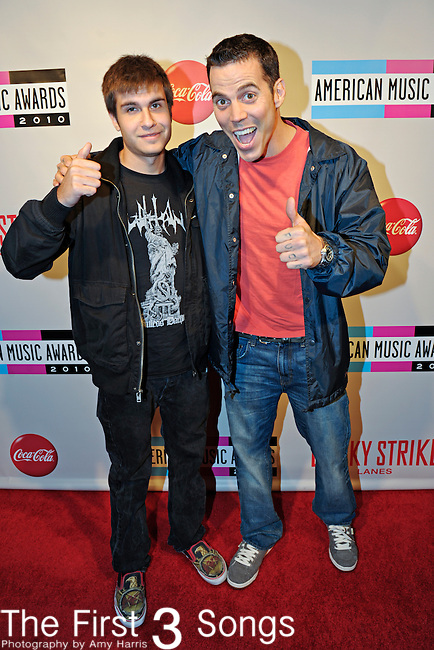 """Steve-O (born Stephen Glover), from the movie """"Jackass 3D"""" and MTV television series """"Jackass"""", attends the 2010 """"American Music Awards"""" Pre-Party Charity Bowl Tournament hosted by Dick Clark Productions at Lucky Strike in Los Angeles, California.  Steve-O bowled on behalf of PETA."""