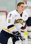 Jamie Nudy (Bentley - 11) was announced as a starter for the Falcons. - The Bentley University Falcons defeated the visiting Sacred Heart University Pioneers 6-2 in their home opener at John A. Ryan Skating Center in Watertown, Massachusetts.