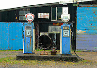 Old garage, petrol station.