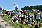 Fans wait for the race during Stage 16 of the 104th edition of the Tour de France 2017, running 165km from Le Puy-en-Velay to Romans-sur-Isere, France. 18th July 2017.<br /> Picture: ASO/Pauline Ballet | Cyclefile<br /> <br /> <br /> All photos usage must carry mandatory copyright credit (&copy; Cyclefile | ASO/Pauline Ballet)