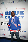 """New York Giants' Justin Tuck Attends NEW YORK Rangers ROLL OUT THE """"BLUE CARPET PRESENTED by Chase"""" <br /> FOR GAME THREE AGAINST WASHINGTON at Madison Square Garden, NY"""