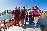 """Lyle Dinsmore and crew, H-6 """"Miss Gangway"""" (1973 Lauterbach 7 Litre Div. I hydroplane)"""