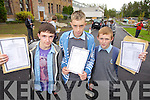 Students from CBS, The Green, Tralee collecting their Junior Cert results on Wednesday, from left: Cairdhe Fitzgerald (Tralee), William Hurley (Tralee) and Dylan O'Brien (Tralee)..