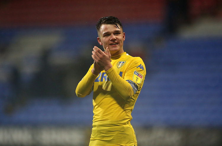 Leeds United's Jamie Shackleton applauds the fans at the final whistle <br /> <br /> Photographer Stephen White/CameraSport<br /> <br /> The EFL Sky Bet Championship - Bolton Wanderers v Leeds United - Saturday 15th December 2018 - University of Bolton Stadium - Bolton<br /> <br /> World Copyright © 2018 CameraSport. All rights reserved. 43 Linden Ave. Countesthorpe. Leicester. England. LE8 5PG - Tel: +44 (0) 116 277 4147 - admin@camerasport.com - www.camerasport.com