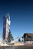 USA, Utah, Park City, the entrance into the Utah Olympic Park