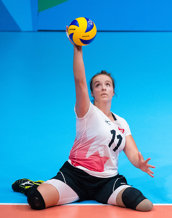 RIO DE JANEIRO - 13/09/2016 Canada competes in the Women's Sitting Volleyball Preliminary at the Rio 2016 Paralympic Games at the Riocentro - Pavilion 6. (Photo by Angela Burger/Canadian Paralympic Committee)