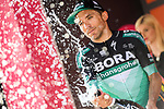 Cesare Benedetti (ITA) Bora-Hansgrohe wins Stage 12 of the 2019 Giro d'Italia, running 158km from Cuneo to Pinerolo, Italy. 23rd May 2019<br /> Picture: Gian Mattia D'Alberto/LaPresse | Cyclefile<br /> <br /> All photos usage must carry mandatory copyright credit (© Cyclefile | Gian Mattia D'Alberto/LaPresse)
