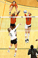 SAN ANTONIO, TX - OCTOBER 27, 2019: The Marshall University Thundering Herd defeat the University of Texas at San Antonio Roadrunners 3-0 (25-23, 25-19, 25-21) at the UTSA Convocation Center. (Photo by Jeff Huehn)