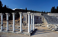 Griechenland, Dodekanes, Kos: Asklepieion - Apollon-Tempel (antikes Therapiezentrum und Medizinschule) | Greece, Dodekanes, Kos: Asklepieion - Apollon-temple (antique therapy centre and medical school)