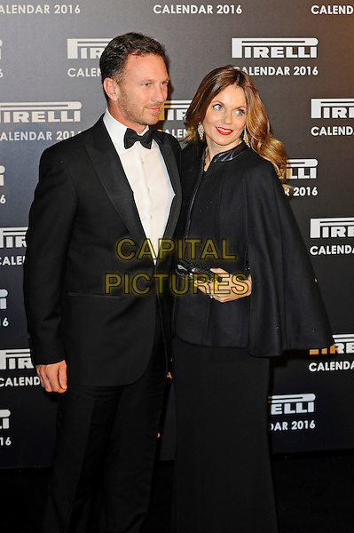 LONDON, ENGLAND - NOVEMBER 30: Christian Horner and Geri Halliwell attending Gala Evening To Celebrate The Pirelli Calendar 2016 By Annie Leibovitz at Camden Roundhouse on November 30, 2015 in London, England.<br /> CAP/MAR<br /> &copy; Martin Harris/Capital Pictures
