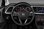 Car pictures of steering wheel view of a 2018 Seat Leon ST Style 5 Door Wagon