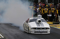 May 10, 2013; Commerce, GA, USA: NHRA pro stock driver J.R. Carr during qualifying for the Southern Nationals at Atlanta Dragway. Mandatory Credit: Mark J. Rebilas-