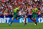 Marcos Llorente of Atletico de Madrid and Charles Dias de Oliveira of SD Eibar in action during La Liga match between Atletico de Madrid and SD Eibar at Wanda Metropolitano Stadium in Madrid, Spain.September 01, 2019. (ALTERPHOTOS/A. Perez Meca)