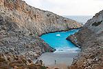 Seitan Limania, a beautiful small beach on the Akrotiri Peninsurla, Chania, Crete, Europe