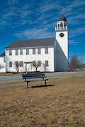 Canaan Meetinghouse  which was built in 1793 by William Parkhurst. Located in historical Canaan, New Hampshire, USA, which is part of New England...Notes; Also known as the Canaan Town Hall and it is  listed on the National Register