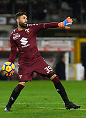 2nd December 2017, Stadio Olimpico Grande Torino, Turin, Italy; Serie A football, Torino versus Atalanta; Salvatore Sirigu throws the ball out of his box