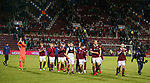 09.05.2018 Hearts v Hibs: Hearts players take a lap of honour