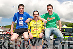 Ed Murphy (Kiskeen), John Barrett (Scartaglin) and Robby Coleman (Castlemagner) delighted after completing the Dingle Adventure Race on Saturday.