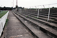 Terracing at Bromley FC Football Ground, Hayes Lane, Bromley, Kent, pictured on 30th January 1994