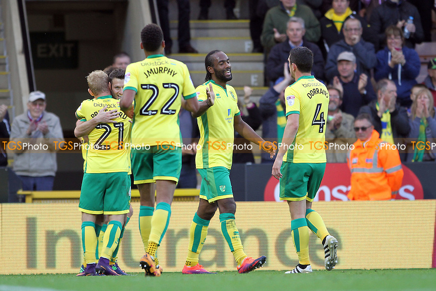 Cameron Jerome of Norwich City gets the second goal for Norwich during Norwich City vs Rotherham United, Sky Bet EFL Championship Football at Carrow Road on 15th October 2016