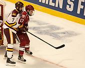 Adam Johnson (UMD - 7), Sean Malone (Harvard - 17) - The University of Minnesota Duluth Bulldogs defeated the Harvard University Crimson 2-1 in their Frozen Four semi-final on April 6, 2017, at the United Center in Chicago, Illinois.
