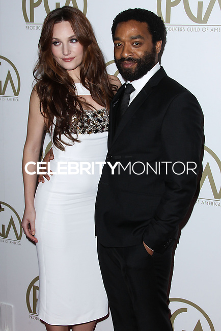 BEVERLY HILLS, CA - JANUARY 19: Sari Mercer, Chiwetel Ejiofor at the 25th Annual Producers Guild Awards held at The Beverly Hilton Hotel on January 19, 2014 in Beverly Hills, California. (Photo by Xavier Collin/Celebrity Monitor)