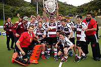 North Harbour celebrates winning the 2017 National Hockey League Men's final between Auckland and North Harbour at National Hockey Stadium in Wellington, New Zealand on Sunday, 24 September 2017. Photo: Dave Lintott / lintottphoto.co.nz