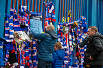 07.04.2018: Rangers v Dundee:<br /> Rangers fans tie tributes to the Ibrox gates for Ray Wilkins