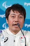 Kenichi Niboshi (JPN), MARCH 11, 2018 - Snow board : Japanese Snow board team Press Conference at Paralympic Village during the PyeongChang 2018 Paralympics Winter Games in Pyeongchang, South Korea. (Photo by Sho Tamura/AFLO SPORT)