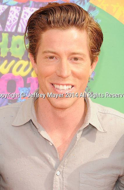 LOS ANGELES, CA- MARCH 29: Athlete Shaun White attends Nickelodeon's 27th Annual Kids' Choice Awards held at USC Galen Center on March 29, 2014 in Los Angeles, California.
