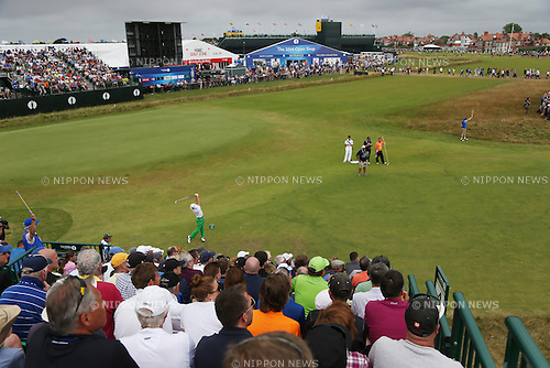 Matteo Manassero (ITA), JULY 20, 2014 - Golf : Matteo Manassero of Italy watches his shot on the 4th hole during the final round of the 143rd British Open Championship at Royal Liverpool Golf Club in Hoylake, England. (Photo by Koji Aoki/AFLO SPORT) [0008]