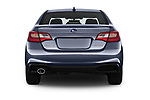Straight rear view of a 2018 Subaru Legacy Premium 4 Door Sedan stock images