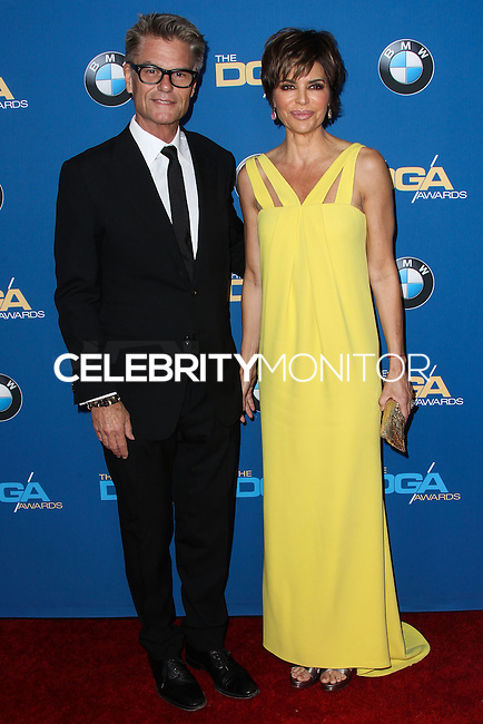 CENTURY CITY, CA - JANUARY 25: Harry Hamlin, Lisa Rinna at the 66th Annual Directors Guild Of America Awards held at the Hyatt Regency Century Plaza on January 25, 2014 in Century City, California. (Photo by Xavier Collin/Celebrity Monitor)