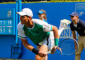 June 19th 2017, Queens Club, West Kensington, London; Aegon Tennis Championships, Day 1; Number seven seed Tomas Berdych (CZE) hits a serve during his singles match against Steve Darcis (BEL); Berdych won in straight sets