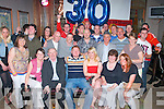 Andrew Hobbert,Spa Rd,Tralee(seated centre)celebrated his 30th birthday last Saturday night in Kirby's BrogueInn,Rock St,Tralee with lots of friends and family.