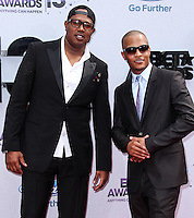 LOS ANGELES, CA - JUNE 30: Master P and T.I. attend the 2013 BET Awards at Nokia Theatre L.A. Live on June 30, 2013 in Los Angeles, California. (Photo by Celebrity Monitor)