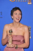 Maggie Gyllenhaal at the 72nd Annual Golden Globe Awards at the Beverly Hilton Hotel, Beverly Hills.<br /> January 11, 2015  Beverly Hills, CA<br /> Picture: Paul Smith / Featureflash
