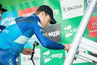 Picture by Allan McKenzie/SWpix.com - 04/09/2017 - Cycling - OVO Energy Tour of Britain - Stage 2 Kielder Water to Blyth - Rory Townsend signs on.