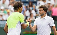 RAFAEL NADAL (ESP), GILLES SIMON (FRA)<br /> <br /> Tennis - BNP PARIBAS OPEN 2015 - Indian Wells - ATP 1000 - WTA Premier -  Indian Wells Tennis Garden  - United States of America - 2015<br /> &copy; AMN IMAGES