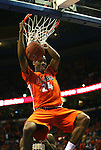 23 December 2008:   Illini's Mike Davis (24) slames the ball very early in the first period.  The University of Missouri and the University of Illinois competed in the annual Busch Braggin' Rights basketball game at the Scottrade Center in downtown St. Louis, Missouri on Tuesday December 23, 2008...