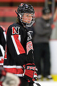 Cassie Sperry (NU - 21) - The Harvard University Crimson defeated the Northeastern University Huskies 1-0 to win the 2010 Beanpot on Tuesday, February 9, 2010 at Bright Hockey Center in Cambridge, Massachusetts.