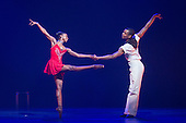 London, UK. 17 March 2016. Cira Robinson and Damien Johnson performing. Storyville by Christopher Hampson. Ballet Black present a Triple Bill at the Barbican Theatre on 18 and 19 March 2016. Premiere of Cristaux choreographed by Arthur Pita, the premiere of To Begin, Begin by Christopher Marney and a reworked version of Storyville by Christopher Hampson. Dancers performing are Cira Robinson, Kanika Carr, Isabela Coracy, Sayaka Ichikawa, Damien Johnson, Jacob Wye, Mthuthuzeli November and Joshua Harriette.