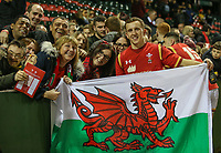 Wales U20's Ben Jones poses with family members and fans after the match<br /> <br /> Photographer Alex Dodd/CameraSport<br /> <br /> RBS Six Nations U20 Championship Round 4 - Wales U20s v Ireland U20s - Saturday 11th March 2017 - Parc Eirias, Colwyn Bay, North Wales<br /> <br /> World Copyright &copy; 2017 CameraSport. All rights reserved. 43 Linden Ave. Countesthorpe. Leicester. England. LE8 5PG - Tel: +44 (0) 116 277 4147 - admin@camerasport.com - www.camerasport.com