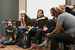 Energy Action Coalition partners meet for one last get together to disucss the last minute details of Powershift.(Photo by: Robert van Waarden)