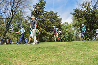 Russell Knox (IRL), Alex Noren (SWE), and Jordan Spieth (USA) head down 16 during round 3 of the World Golf Championships, Mexico, Club De Golf Chapultepec, Mexico City, Mexico. 2/23/2019.<br /> Picture: Golffile | Ken Murray<br /> <br /> <br /> All photo usage must carry mandatory copyright credit (© Golffile | Ken Murray)