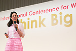 Carol Fishman Cohen CEO and Co-founder of iRelaunch speaks during the 21st International Conference for Women in Business at Grand Nikko Tokyo Daiba on July 18, 2016, Tokyo, Japan. 55 guest speakers, principally female leaders, gathered to discuss the roles of women in politics, business and society. (Photo by Rodrigo Reyes Marin/AFLO)